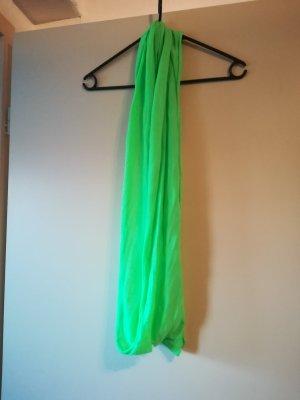 Bufanda tubo verde neón