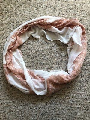 H&M Bufanda tubo blanco-rosa