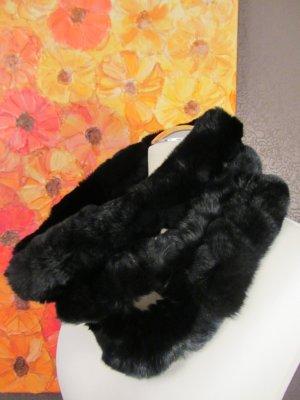 Écharpe tube noir pelage