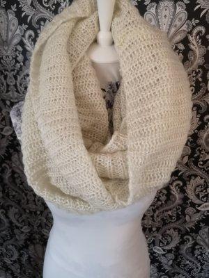 Bufanda tubo blanco-color oro