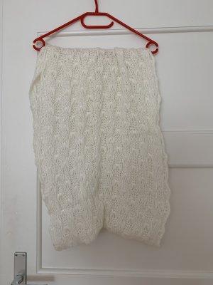 Gina Sciarpa lavorata a maglia bianco-bianco sporco Acrilico