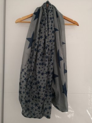Tubesjaal grijs-donkerblauw