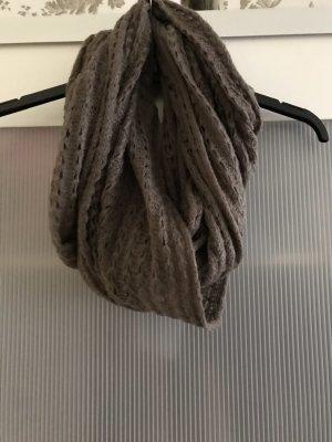 Only Tubesjaal donkerbruin-grijs-bruin