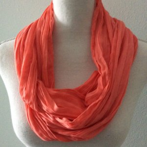 Tube Scarf bright red