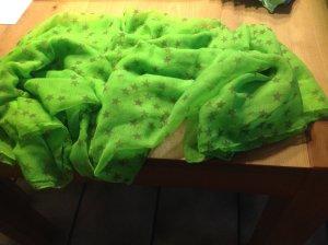 Schlauchschal, grün mit Sternen REDUZIERT!!!!!!