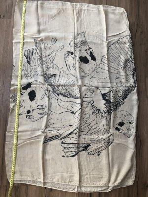 Schlauchschal mit Totenkopfmotiv, Baumwolle