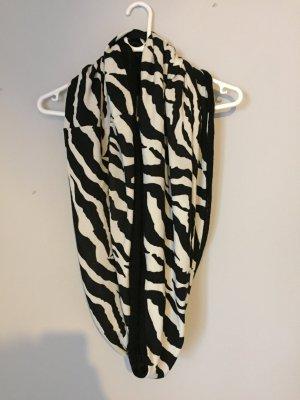 Schlauchschal mit Zebramuster