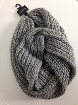Clockhouse Knitted Scarf grey-silver-colored