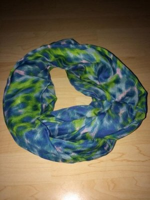 Pieces Tube Scarf green-neon blue