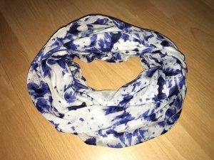 Pieces Scaldacollo bianco-blu scuro