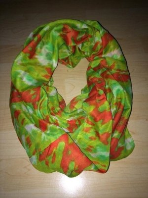 Pieces Tube Scarf neon green-red