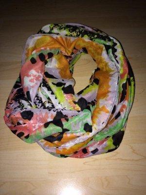 Schlauchschal Pieces orange, gelb, grün, weiß, schwarz, rosa