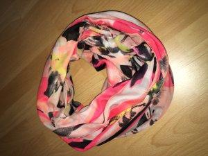 Schlauchschal Pieces pink, rosa, gelb, weiß, schwarz