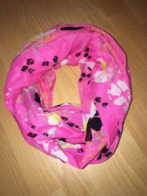Schlauchschal Pieces pink, schwarz, weiß, gelb