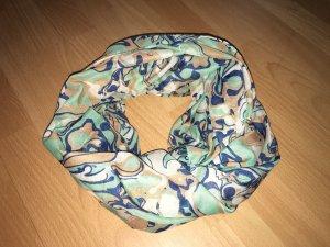 Schlauchschal Pieces türkis, beige, braun, blau