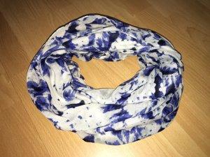 Schlauchschal Pieces weiß, blau