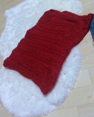 Tubesjaal baksteenrood-rood