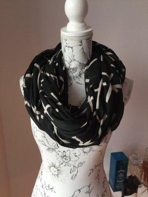 Tubesjaal zwart-wit