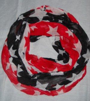 Schlauchschal Schlauch Schal Loop Rundschal american Flag blau rot weiß NEU TOP
