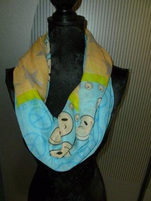 Halsdoek geel-babyblauw