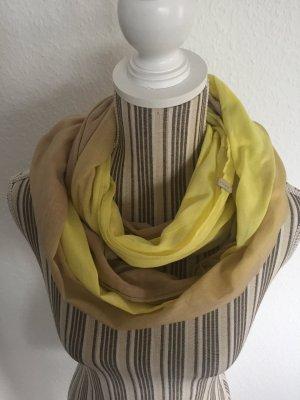 Esprit Bufanda tubo amarillo-beige