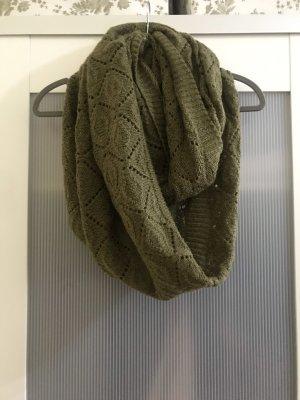 H&M Tubesjaal olijfgroen-groen-grijs