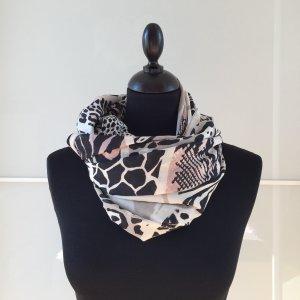 H&M Bufanda tubo negro-rosa