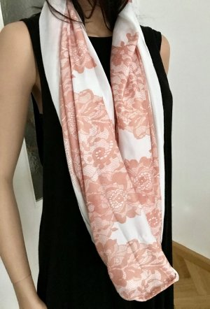 Tube Scarf white-rose-gold-coloured