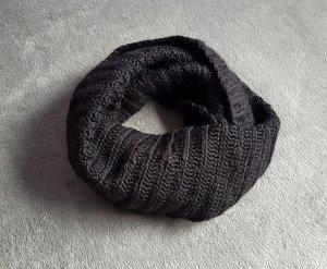 H&M Sciarpone nero Tessuto misto