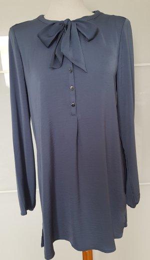 Bonita Blusa con lazo azul acero Viscosa