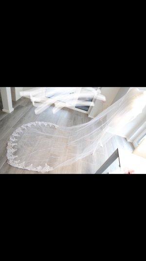 Schleier Hochzeit spitze ivory weiss lang neu braut Brautschmuck