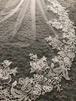 Schleier Ivory Spitze 80cm Braut Hochzeit