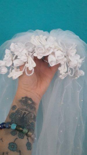 Schleier Vintage Brautschleier Perlen Hochzeit Kopfschmuck