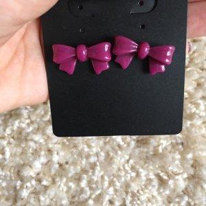 Accessorize Clou d'oreille rose-violet