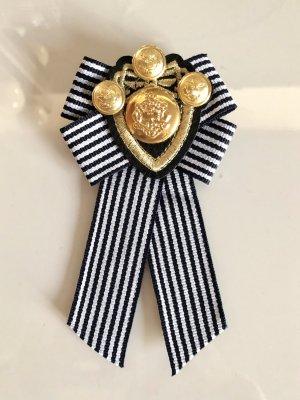 Schleife Brosche Blogger Trend Anhänger Marine Emblem