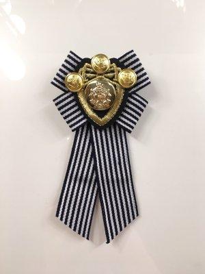 Schleife Brosche Trend Anhänger Marine Gold Emblem