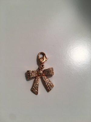 Schleife Charm von Swarovski mit Kristallen in Rose Gold, Anhänger