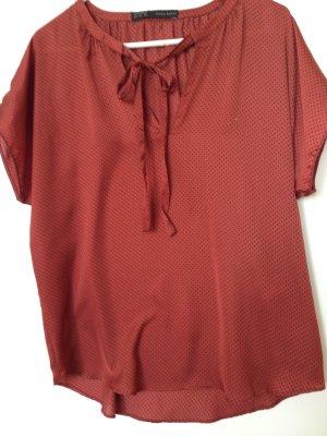 Schleifen-Bluse mit Pünktchen