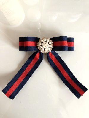 Schleifenbrosche Mode Trend Anhänger mit Strass Perlen