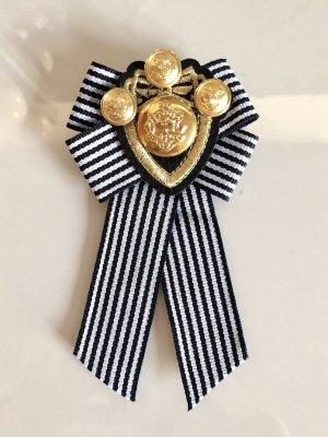 Schleifenbrosche Schleife Brosche Strass Perlen Anstecker Handmade