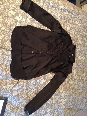 s.Oliver Glanzende blouse zwart