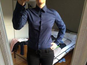 Schlichte blaue GAS Bluse
