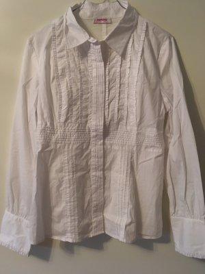 Schlichte Bluse mit Rüschen