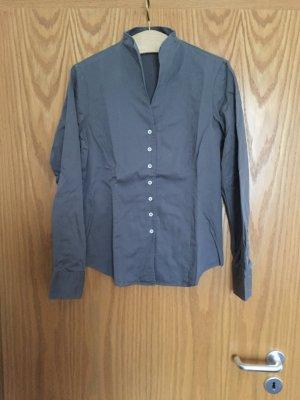 schlichte Bluse mit Stehkragen von Franco Callegari, Gr. 38