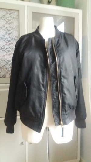 Forever 21 Bomber Jacket black synthetic