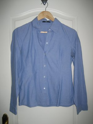 schlichte Business-Bluse Boss Black blau Gr. 38