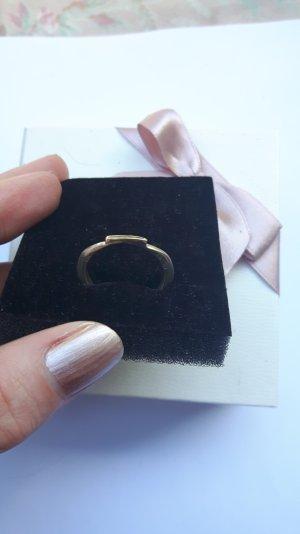 Schlichte Eleganz Ring mit Gold Größe 60
