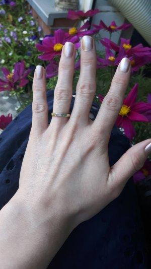 Schlichte Eleganz Ring mit Mondstein Größe 54