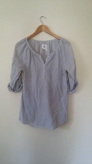Schlichte gestreifte Bluse von H&M L.O.G.G. Baumwolle, blau/weiß