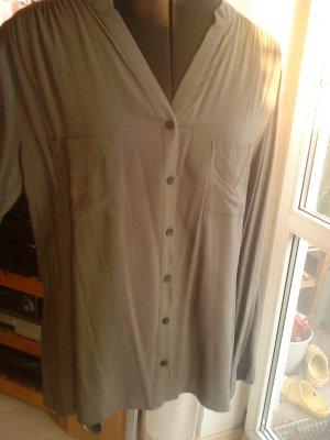 schlichte graue Bluse Größe 38